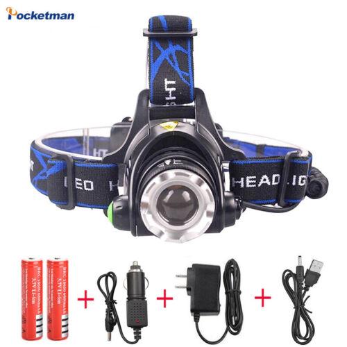DEL Projecteur Zoomable Phare étanche Tête Torche Lampe de poche 20-50 W