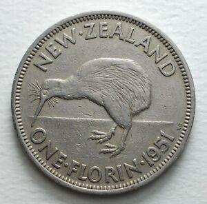 1951-New-Zealand-One-Florin-George-VI