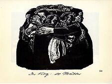 Käthe Kollwitz * Holzschitte Der Krieg: Die Mütter / Die Witwe 1930