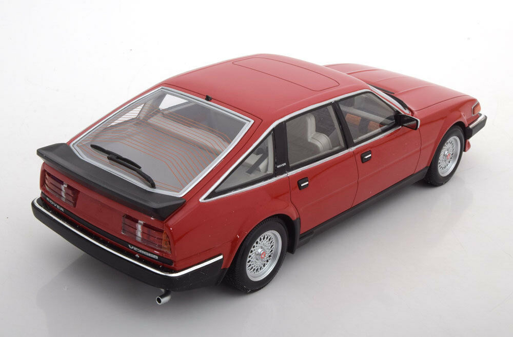 ROVER VITESSE 3.5 V8 1986 1986 1986 RED METAL MINICHAMPS 107138401 1/18 ROT ROUGE LHD | Impeccable  2450eb