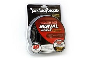 New Rockford Fosgate RFI-20 20 Foot RCA Signal Cable OFC Platinum Plated Wires