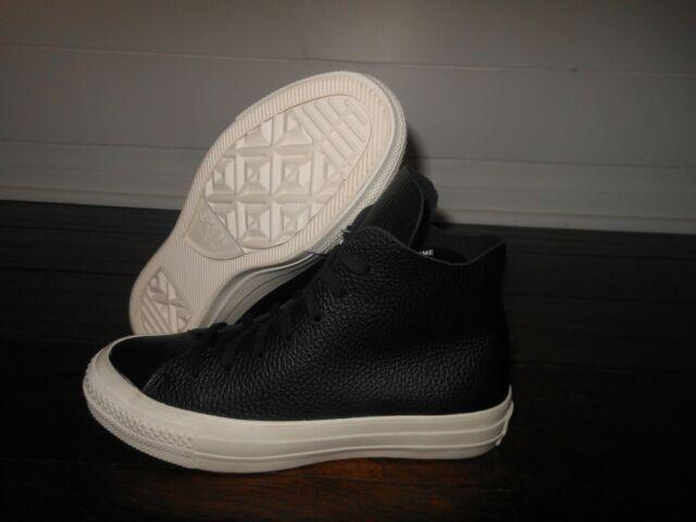 Taylor All Star Converse Black Ctas White Chuck Leather Prime Hi OXZPkiuT