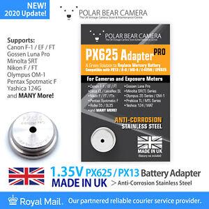 PX625 1.35V MR-9 MRB625 PX13 H-D EPX625 Adapter ONLY Film Camera/Light Meter