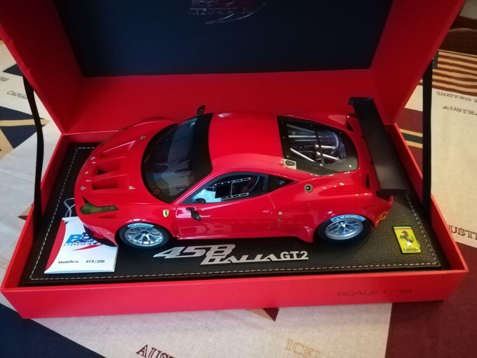 1 18 BBR 1827 Ferrari 458 Italia GT2 2011 Ltd. of 200 pcs.  CMC EXOTO GMP