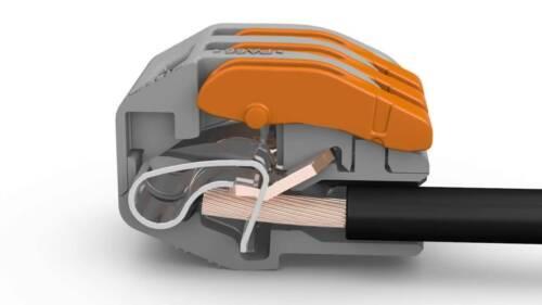 type 3 broches Connecteurs Électriques Fil /& Câble 50 pcs Wago * Vendeur Britannique *