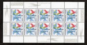 Bund-10-x-2042-postfrisch-KB-Zehnerbogen-Kleinbogen-BRD-EXPO-2000-Hannover