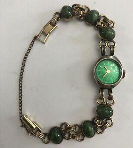 Vintage Jade 17 J. Ladies Watch 10k GF Band