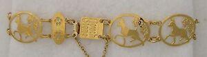 Miniature Pinscher Jewelry Gold Bracelet by Touchstone
