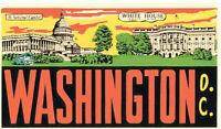 Washington, DC  - The White House    Vintage-Style  Travel Decal/Sticker