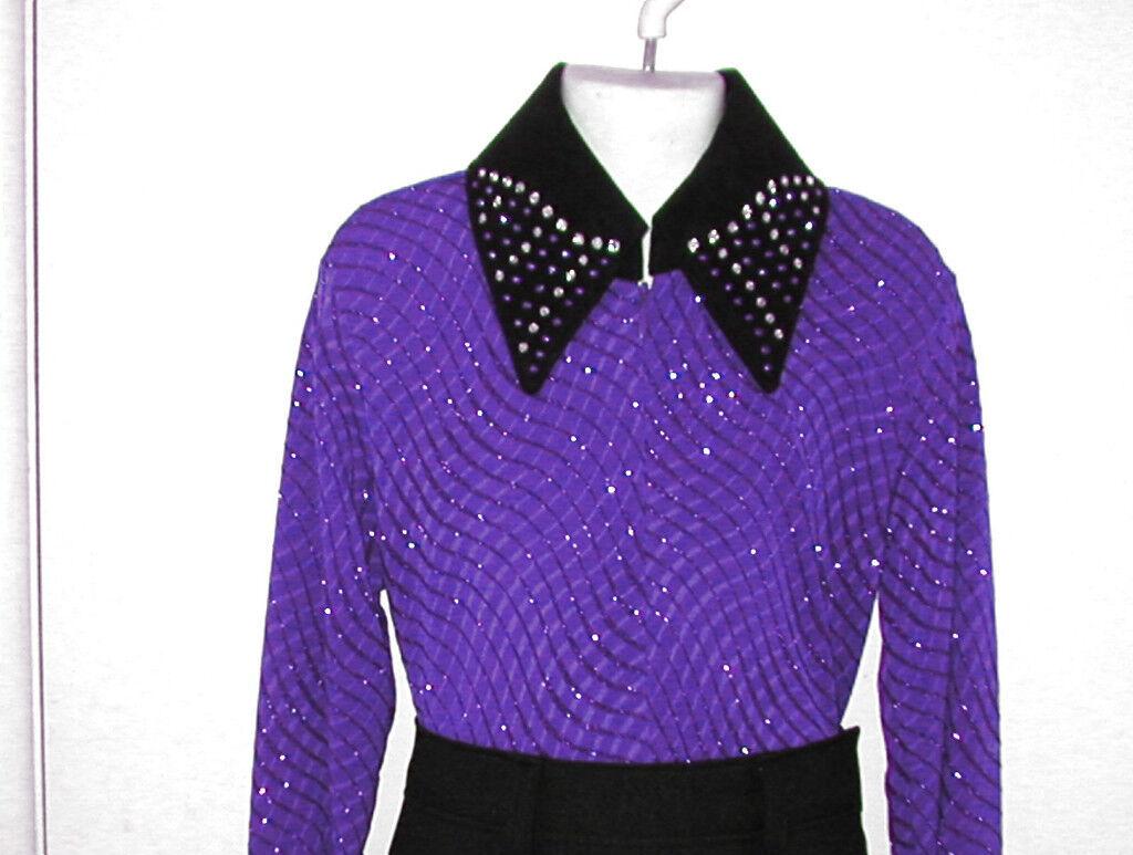 Girl's Eva Western Glamour, Rail, Reining, Trail & Rodeo Shirt N 5 Farbe Choices