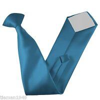 Italian Satin Clip On Tie - All Colours