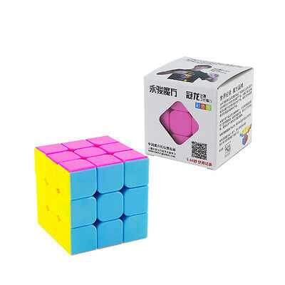 Yongjun GUANLONG 2 Packs of 3x3x3 Speed Cube Puzzle with Vivid Colors