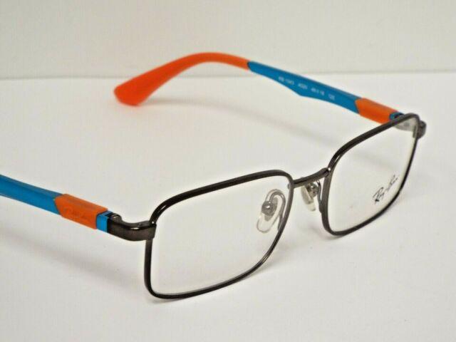Authentic Ray-Ban Kids RB 1043 4020 Gunmetal Metallic Blue Eyeglasses Frame $125