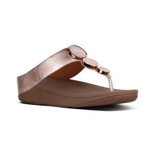 832633fd7 Image is loading FitFlop-Women-039-s-Halo-Rose-Gold-Leather-