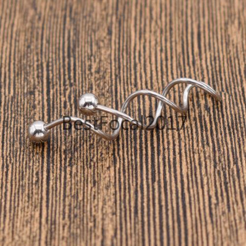 Women   Spiral Barbell Earring Belly Navel Body Piercing Jewellery Gifts