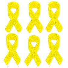 Jesse James Buttons Dress It Up YELLOW CANCER AWARENESS RIBBONS Sew Craft