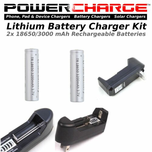 w// 2 Lithium Batteries Kit PowerCHARGE-Battery Charger