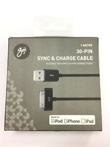 GOJI-G130PIN17C-1-M-Sync-amp-Charge-Cable-pour-iPod-iPhone-iPad-Noir