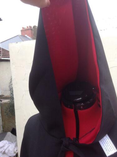 Wizard Mantello con cappuccio nero con cappuccio foderato rosso più colori disponibili CD39