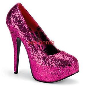 Ampia Da Glitter Shock Decolte' Invisibile 41 A 45 Rosa Calzata Plateau 14 Tacco BWp6wx76Eq