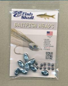 "FISH SKULL BAITFISH HEADS /"" Silver Baitfish /""  SMALL"