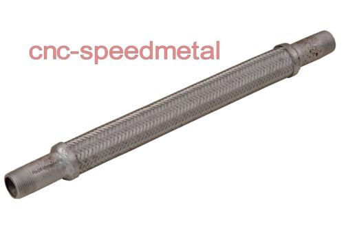 """x 500mm Flexrohr Abgasrohr Auspuffrohr mit Gewindeanschlüssen 01402 1/"""" 26mm"""