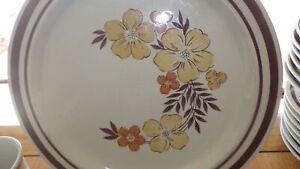Stoneware dinnerware set Laurel by Newcor service 7 1988 Excellent condition 38p
