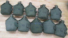 US MILITARY 1 QUART CANTEENS, OLIVE DRAB COVERS  [Qty/10]  ~Used~