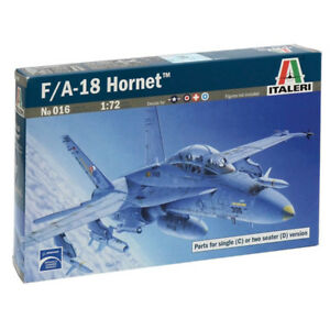 Italeri-F-A-18-Hornet-Military-Aircraft-Plane-Model-Set-Scale-1-72-016-NEW