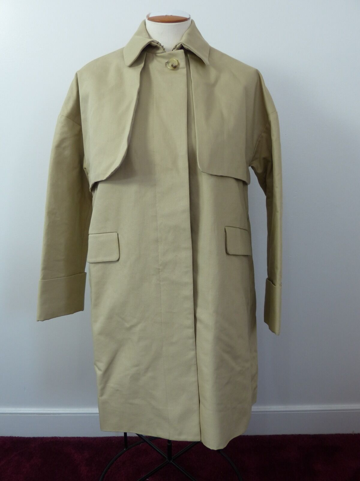 J. Crew COTTON TWILL SWING TRENCH size 2 sold out  khaki