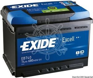exide excell starting battery 74ah 140min 12v 17 7kg. Black Bedroom Furniture Sets. Home Design Ideas