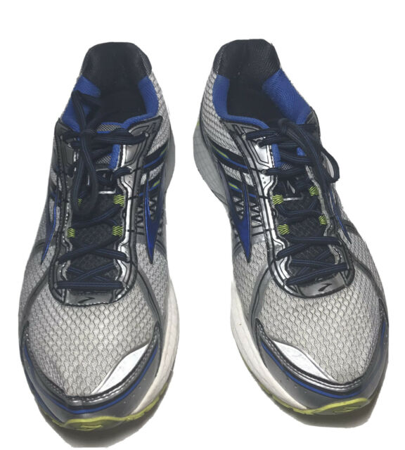 Brooks Adrenaline GTS-15 Running Training Mens Shoes Size 13 Wide 2E Blue Silver