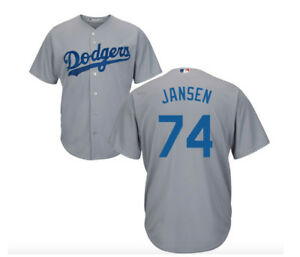 more photos 481fa 0f85f Details about MLB Los Angeles Dodgers Kenley Jansen #74 Cool Base Men's  Jersey - Gray