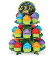 Teenage Mutant Ninja Turtles 3 Tier Cupcake / Treat Stand Decoration - 1512-7744
