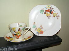 Vintage Thomas Forester & Sons 'Autumn' Cup Saucer Plate (Trio) - Art Deco