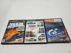 PlayStation-2-Game-Bundle-Lot-of-3-Sony-PS2-Sled-Storm-Gran-Turismo-3-Ford-racei