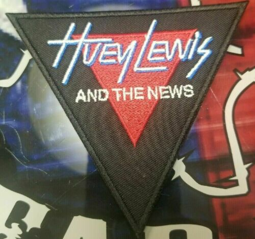 EMBROIDERED HUEY LEWIS /& THE NEWS ROCK BAND PATCH