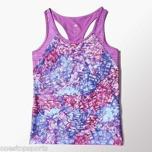 0ffa8a2fb Detalles de Adidas Púrpura de Niñas Camiseta Top. Deporte Varias Tallas