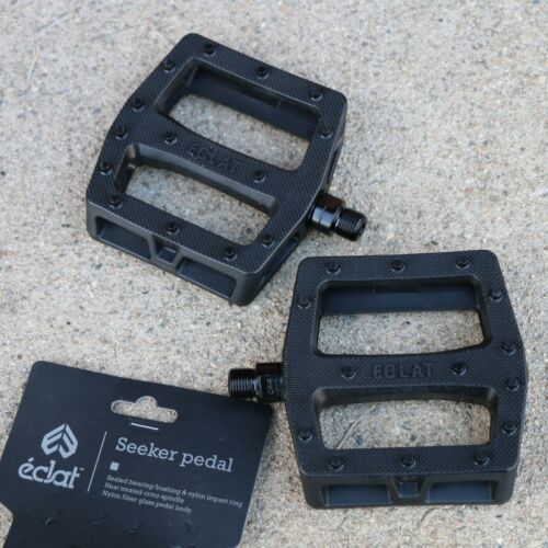 """ECLAT BMX BIKE BLACK SEEKER BICYCLE PEDALS 9//16/"""" PRIMO ODYSSEY SUNDAY FIT CULT"""