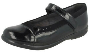 5cc6e6ac02920 Image is loading STARTRITE-EMILIA-Girls-Black-Patent-Leather-School-Shoes-
