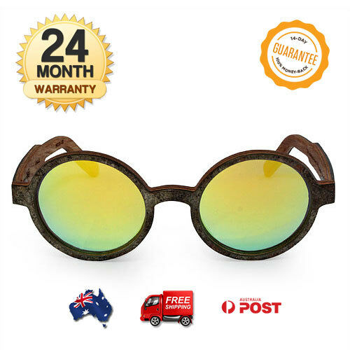 NEW Martzi Oakshale TAC Polarized  UV400 Predection Yellow color wooden sunglass  40% off