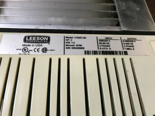2hp 1.5k 30 day warranty #174457.00 Free shipping to lower 48 LEESON Drive