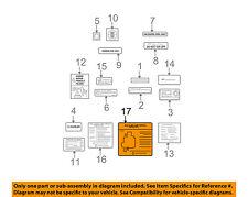 TOYOTA OEM Labels-Vacuum Hose Diagram 1779228150