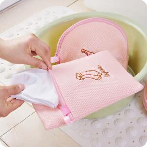 Image Is Loading Foldable Zippered Mesh Laundry Wash Bags Bra