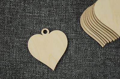 Unpainted Wooden Wall Shape Love Heart 4 in 1 Plain Hanging DECOUPAGE,ART CRAFT
