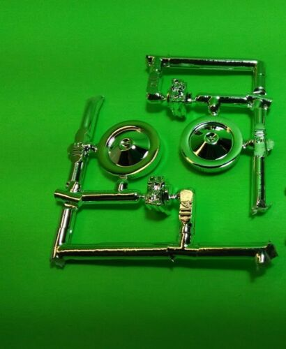 Lot of 2 chrome air cleaners carbs 1967 Chevelle SS pro street model car parts