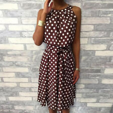 71d4b48e543 item 1 S-5XL Women Fashion Polka Dot Sleeveless Dresses Off Shoulder Casual  Loose Dress -S-5XL Women Fashion Polka Dot Sleeveless Dresses Off Shoulder  ...
