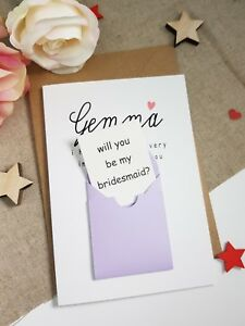 Will You Be My Bridesmaid Flower Girl Maid Of Honour Proposal Card