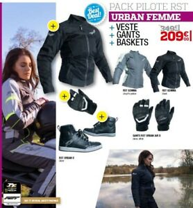Together-Urban-Woman-Rst-Jacket-Gloves-Sneakers-Size-Option-Black