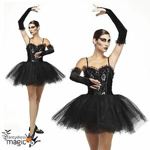 gothic adults ladies ballerina black swan tutu fallen. Black Bedroom Furniture Sets. Home Design Ideas